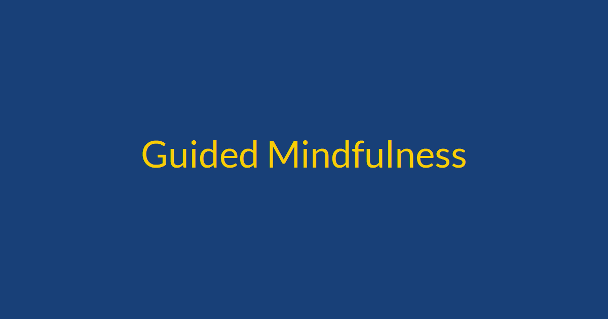 Guided Mindfulness Feature